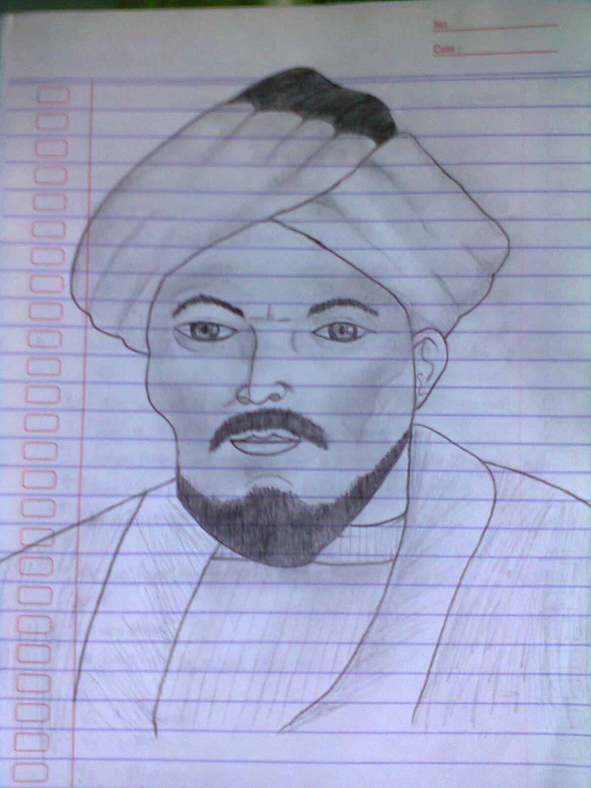 Sketsa Wajah 1 Dina Nur Wulan