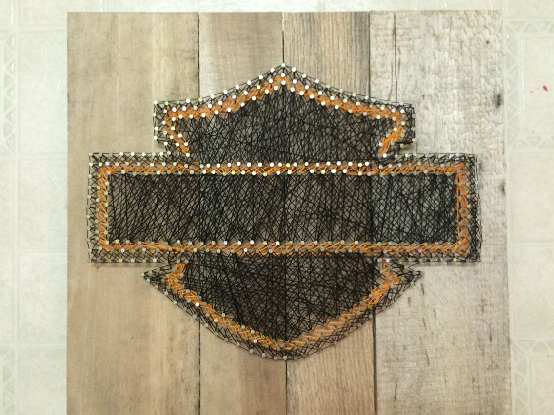 harley davidson string art my projects pinterest. Black Bedroom Furniture Sets. Home Design Ideas