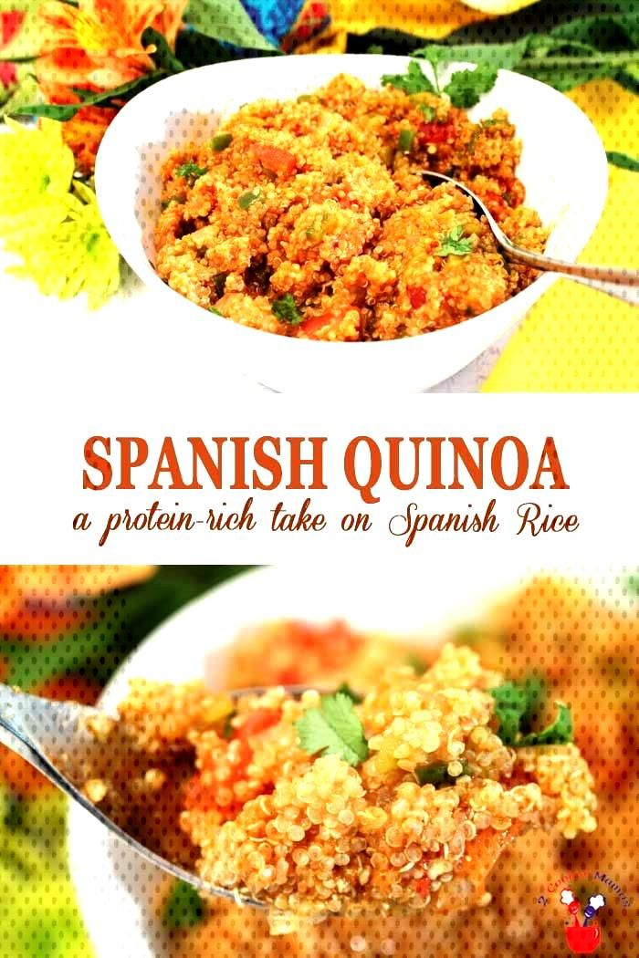 Spanish Quinoa is a protein-boosted take on your favorite.Spanish Rice. All the same delicious flav