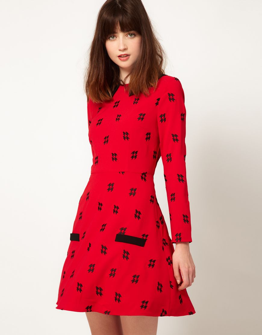 $68 embroidered collar dress