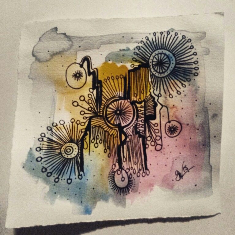 drawings a bohemian ink studios on etsy doodles zentangles sketching pen and watercolour