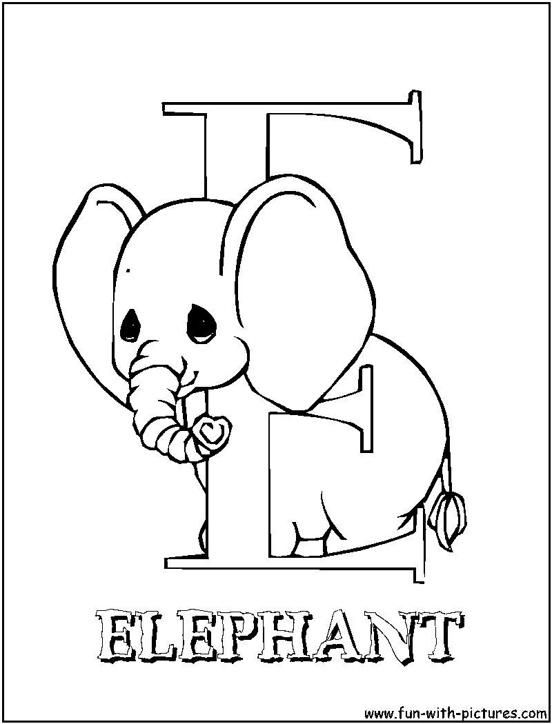 Printable letter e coloring pages - Preciousmoments E Coloring Page