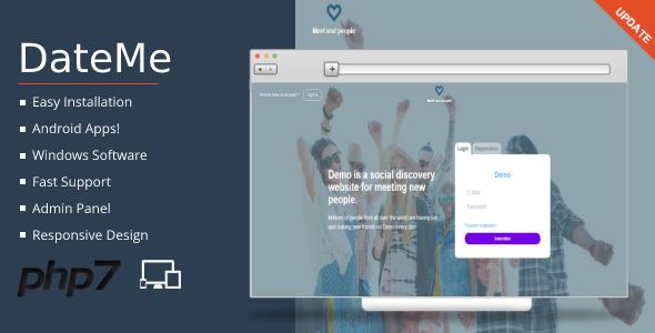 DateMe P… | PHP Scripts, Badoo, date script, DateMe, dating, Dating