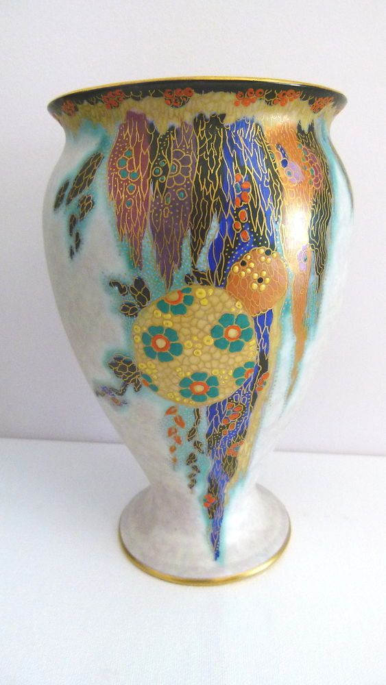 Fieldings Crown Devon Art Deco 1930 s Fantazia Lustre Vase