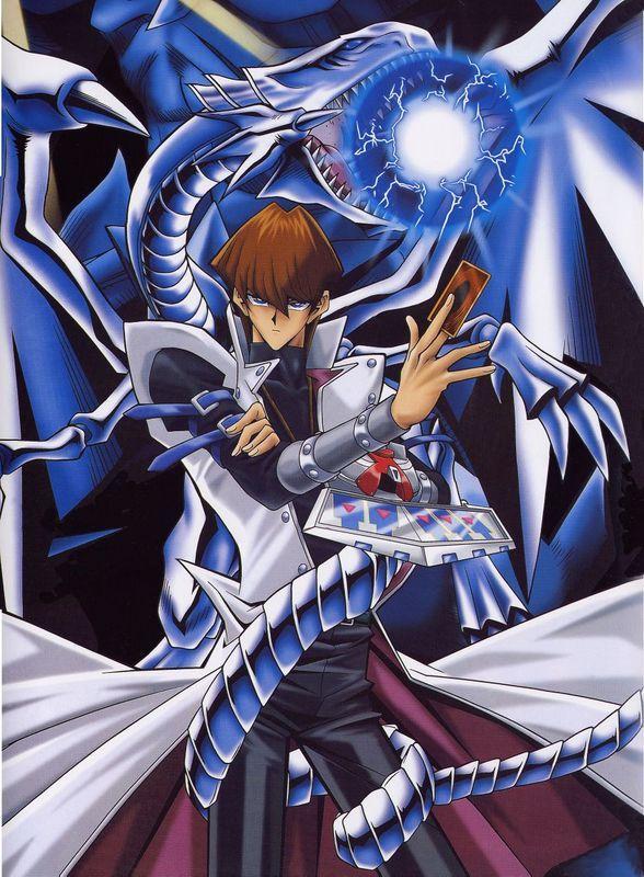 Kaiba Vs Blue Eyes White Dragon Anime Yugioh Monsters White Dragon