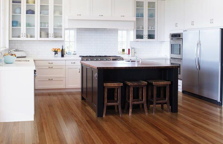 Hardwood Floors Gallery Red Oak Walnut Maple Flooring Kitchen Flooring Kitchen Flooring Options Kitchen Design Open
