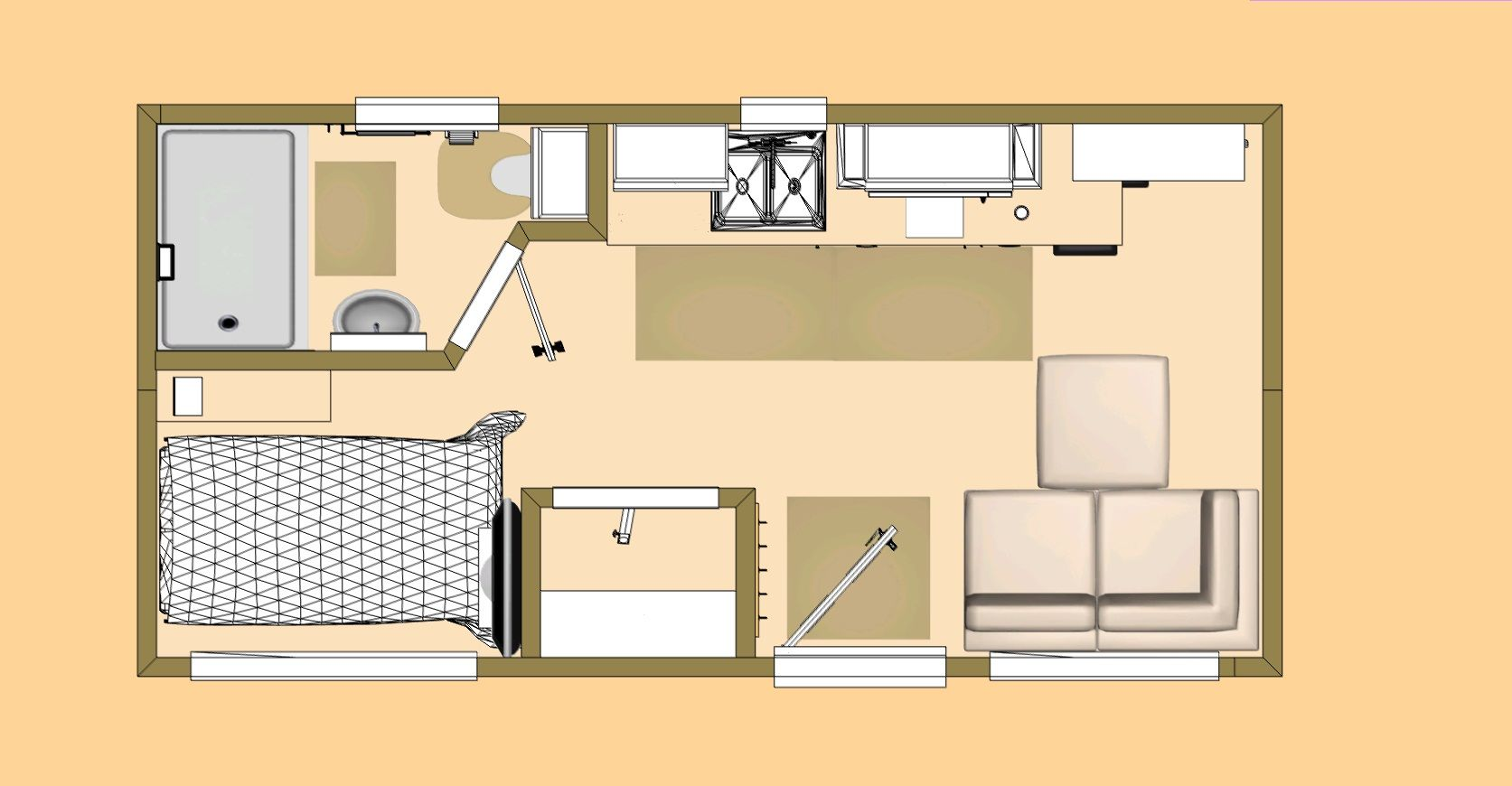 The Floor Plan Of Our Little Catalina Tiny House Floor Plans House Floor Plans Container House Plans