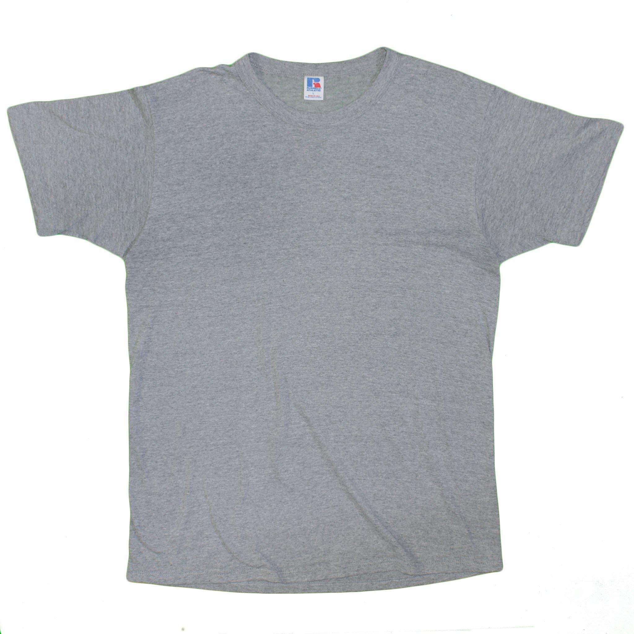 Russell Athletic Men s T Shirt Vintage Gray Blank Short Sleeve