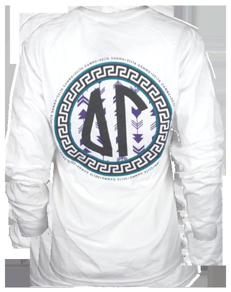 5ebd147a2c44 Delta Gamma Arrows Longsleeve Shirt by Adam Block Design
