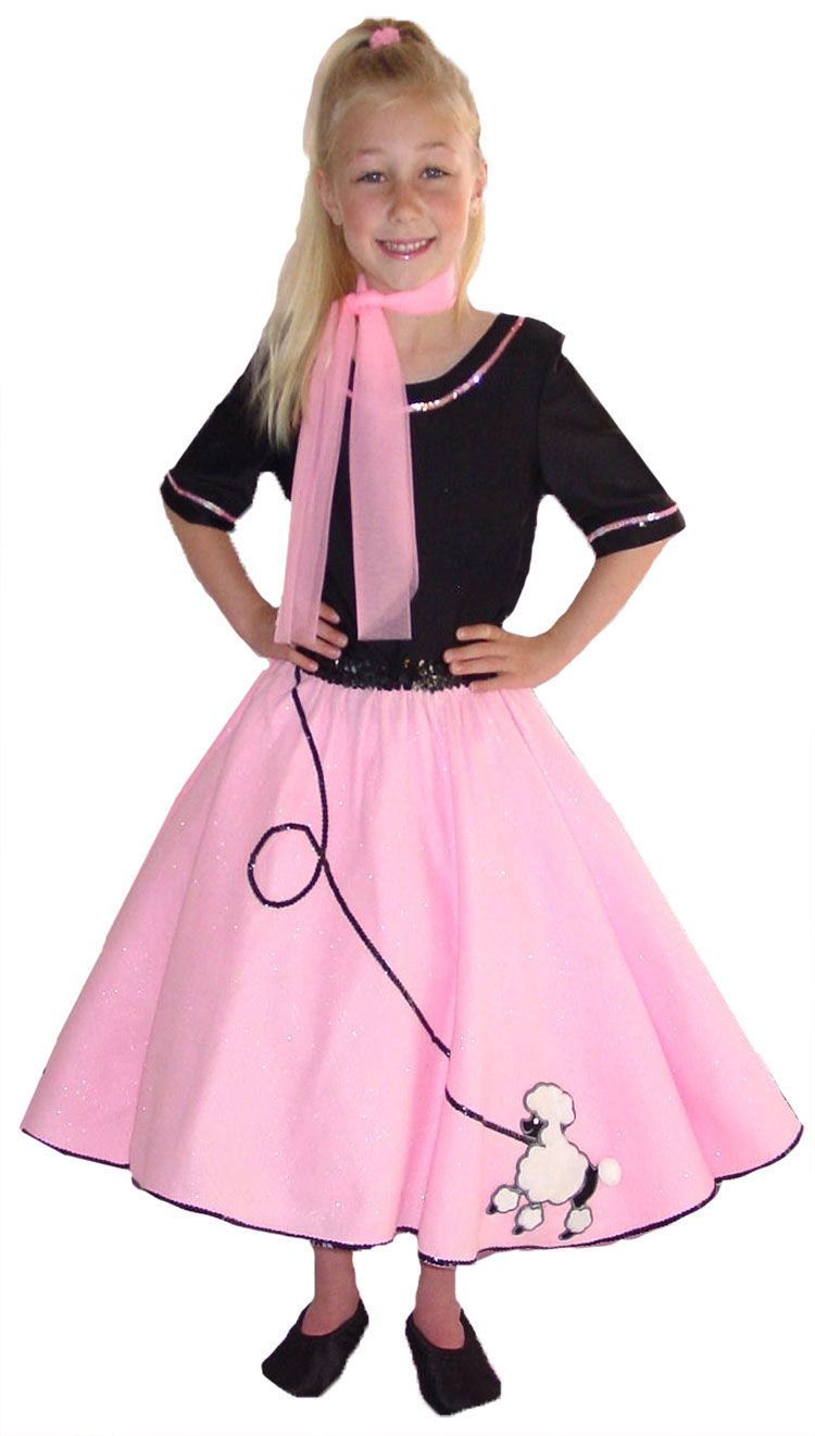 Click Image Above To Purchase Poodle Skirt Kids Costume