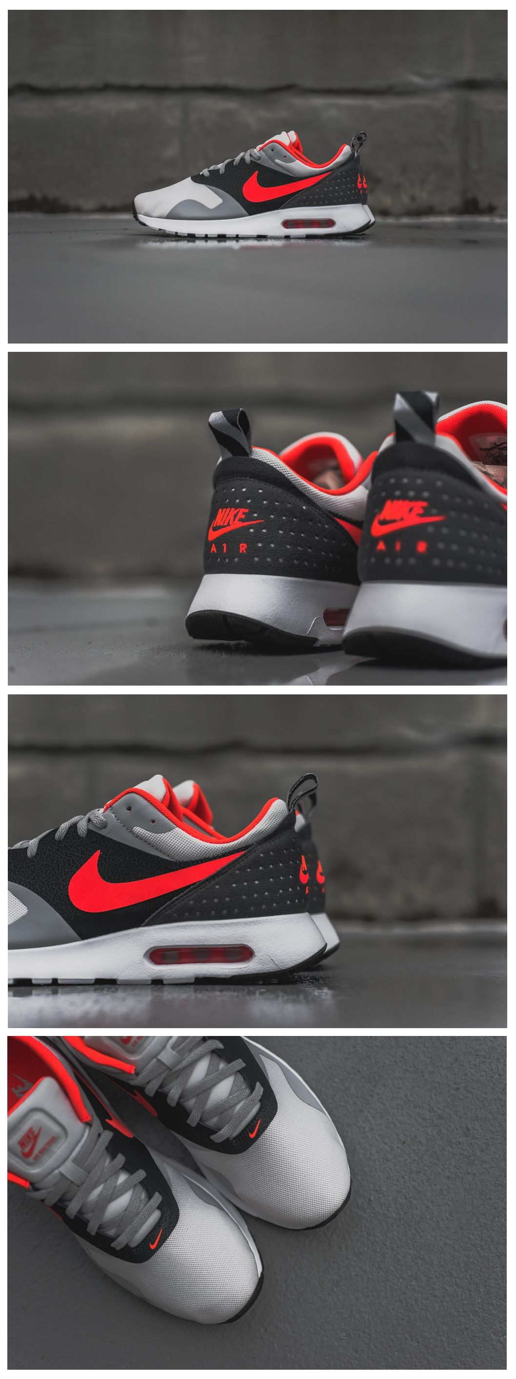 Air Max Tavas Grey Bright Crimson