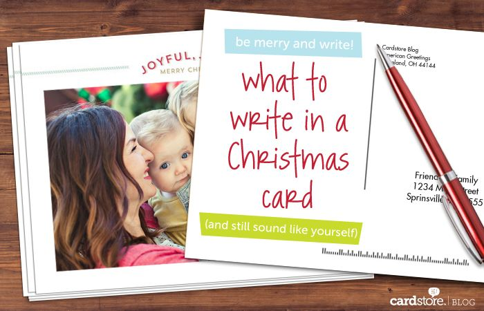 What to write in a Christmas card (and still sound like yourself