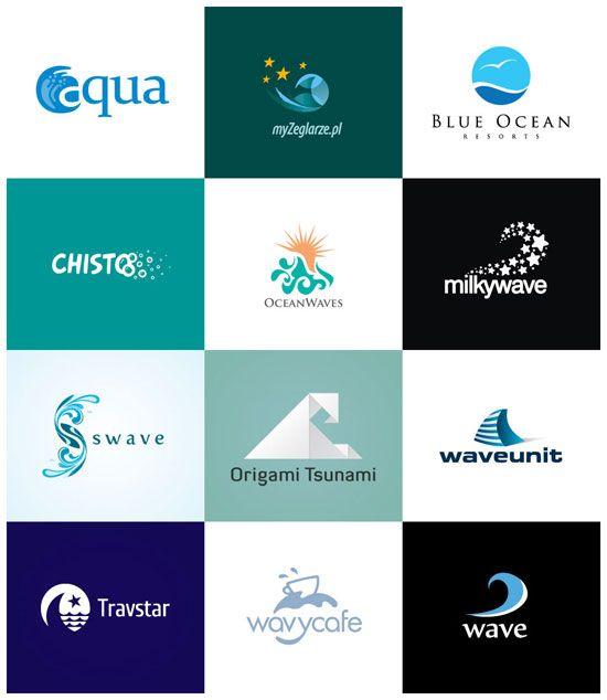 logo design inspiration 30 creative wave logos pinterest logos