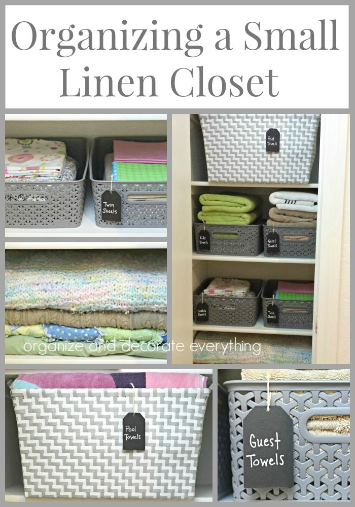 Organizing A Small Linen Closet Small Closet Organization, Bathroom  Organization, Closet Storage, Organizing