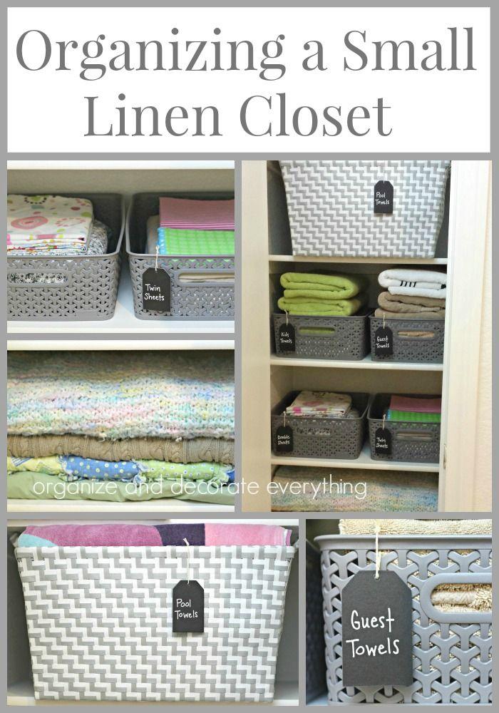 Organizing A Small Linen Closet Small Linen Closets Linen Closet Organization Small Linen Closet Organization