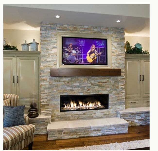 Stacked Stone Fireplace Ideas golden honey stacked stone with granite - google search | outdoors