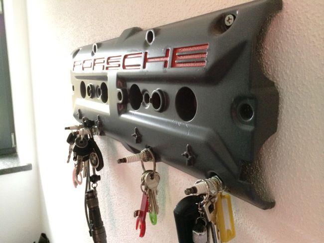 DIY Porsche key holder made of old valve cover | Pinterest | Key ...