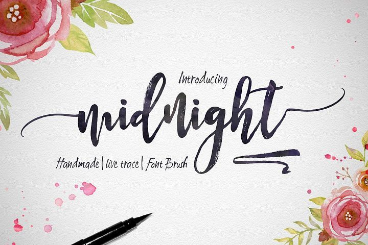 Midnight Hand Lettering Calligraphy Fonts Lettering