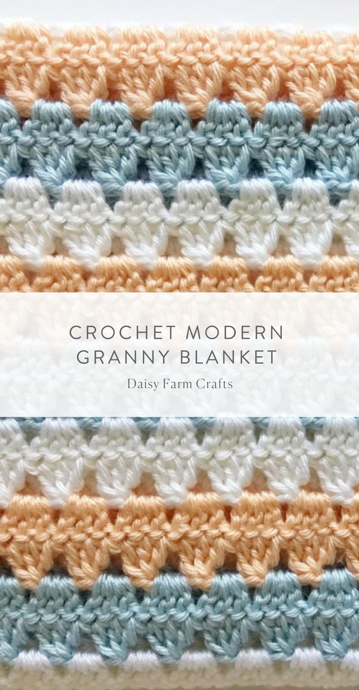 Free Pattern - Crochet Modern Granny Blanket   TEJIDO   Pinterest ...