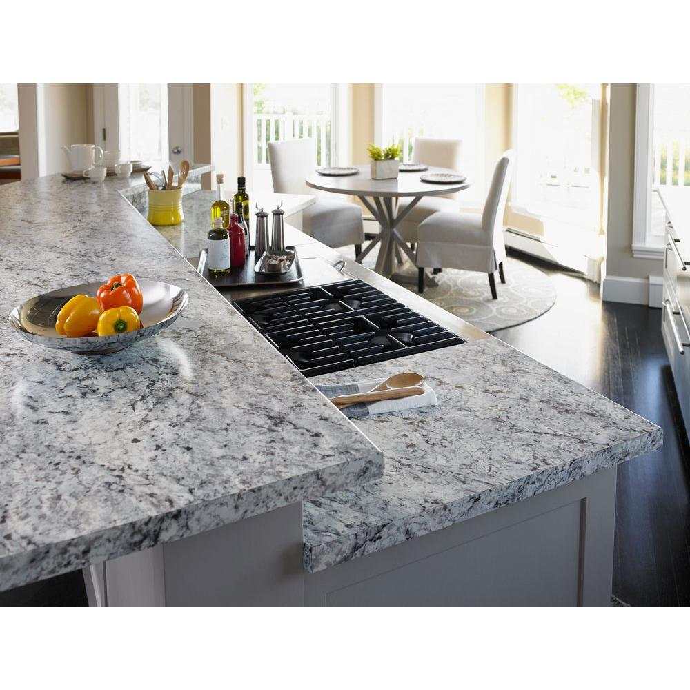 Formica 5 Ft X 12 Ft Laminate Sheet In White Ice Granite With Matte Finish 094761258512000 The Home Depot In 2020 Laminate Kitchen Types Of Kitchen Countertops Kitchen Countertops Laminate