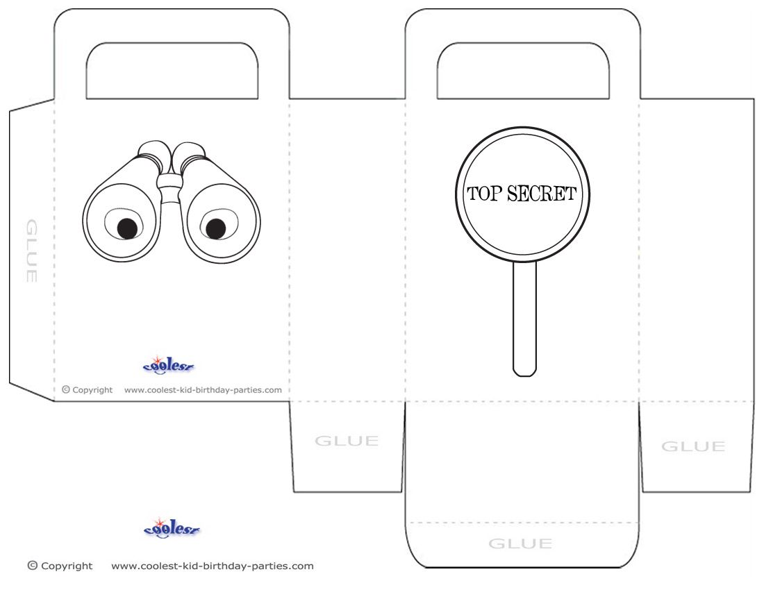 Medium Printable Spy Detective Favorbag Coolest Free Printables Birthday