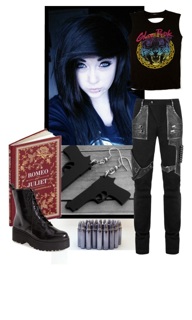 """Stay Punk"" by stream5 ❤ liked on Polyvore featuring Jeffrey Campbell and Forever 21"