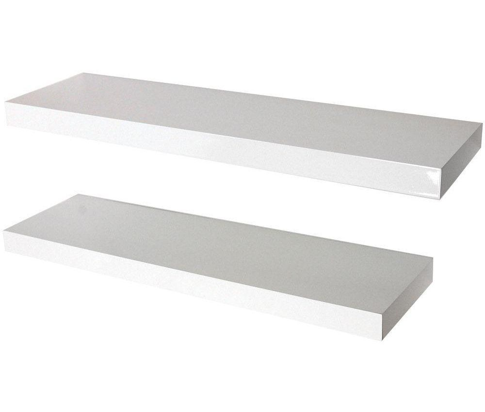 Magnificent Buy Pair Of 70Cm Floating Shelves White Gloss At Argos Co Best Image Libraries Barepthycampuscom