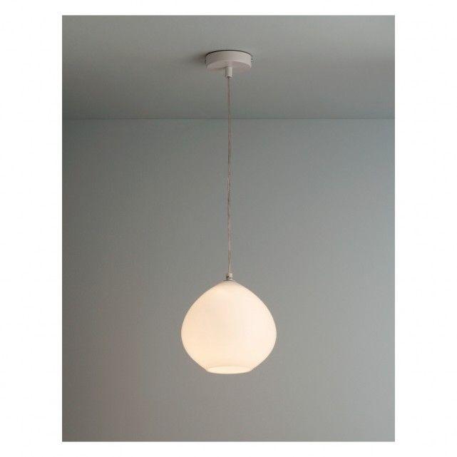 Sophie white glass ceiling light
