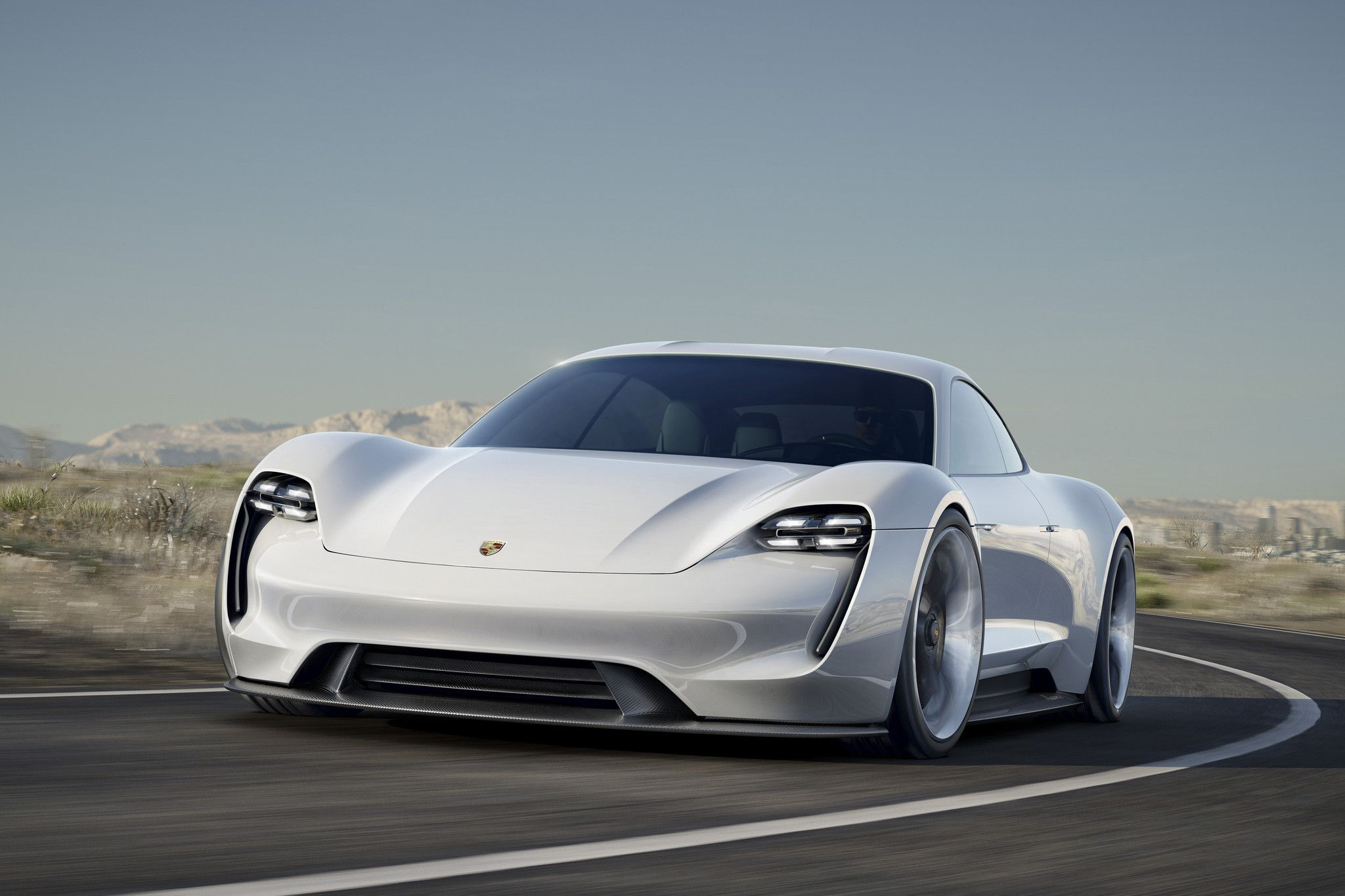 Porsche Unveils All Electric Tesla Fighting Sports Car
