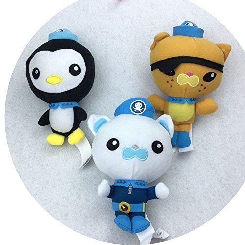 6 3pcs Octonauts Plush Dolls Stuffed Toys Peso Kwazii Captain Barnacles