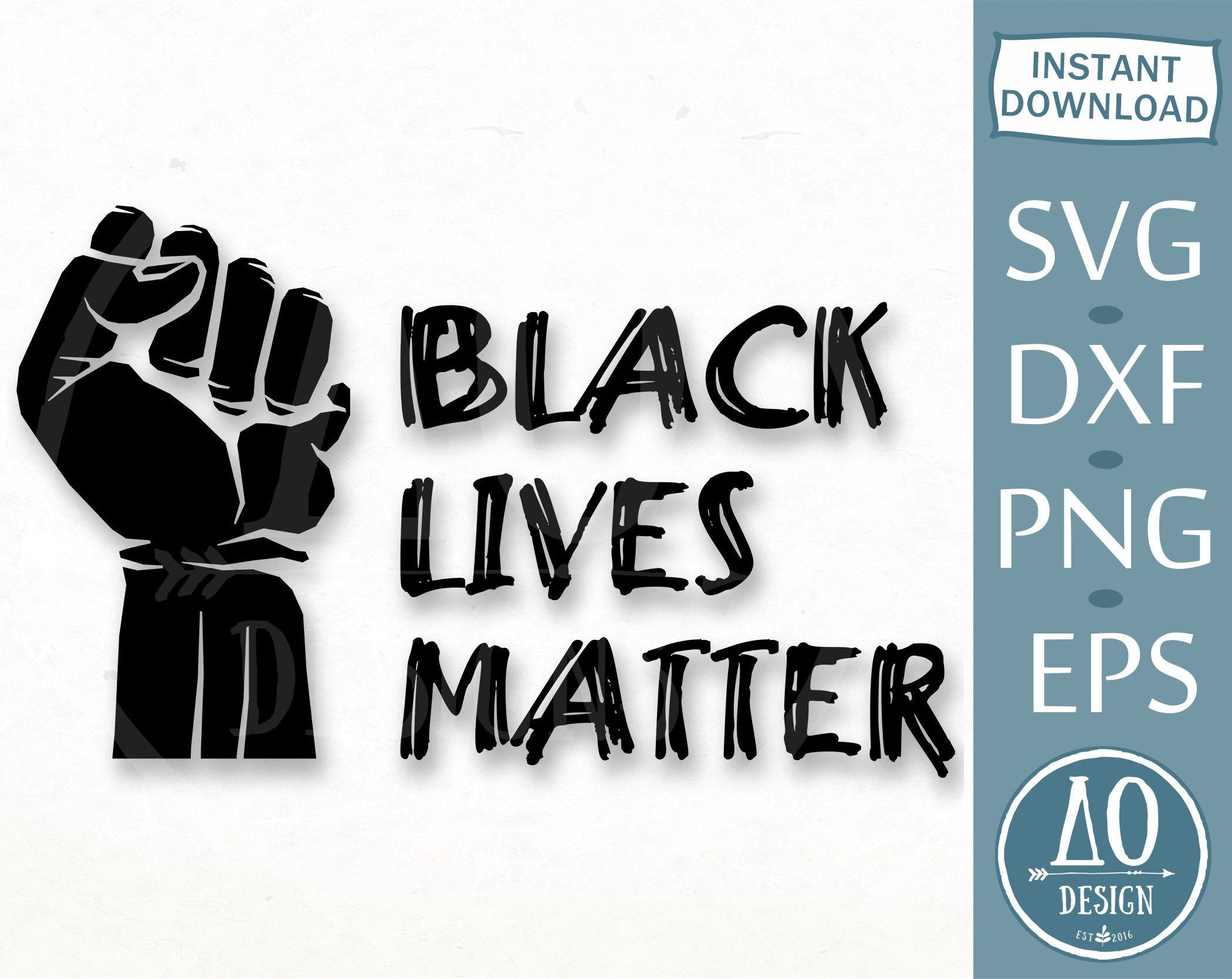 Пин на доске Black Lives Matter SVG
