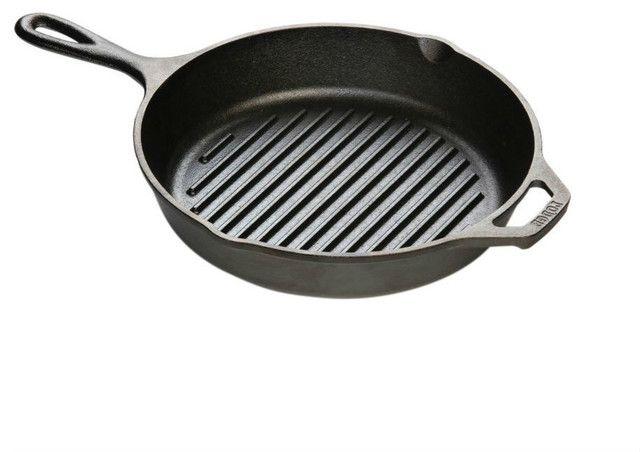 Lodge L8GP3 Cast Iron Grill Pan 10.25-inch