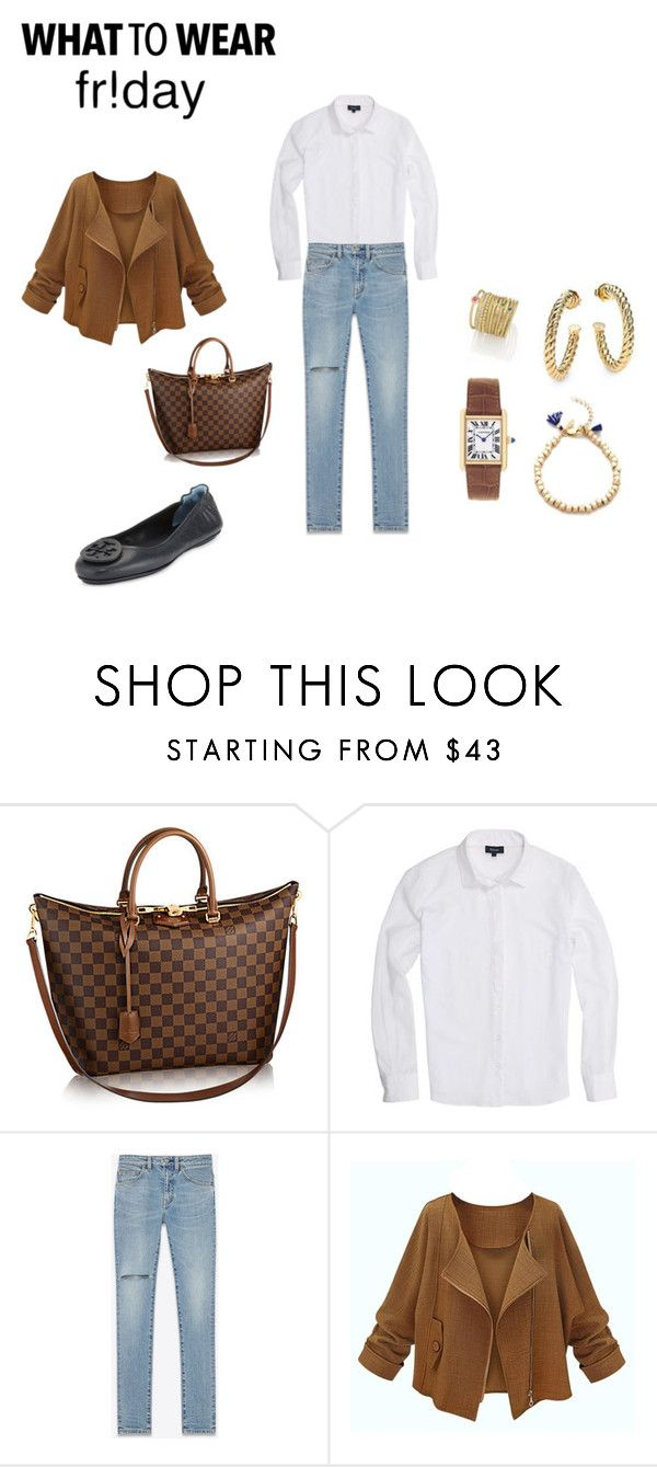 """Untitled #1425"" by pondj ❤ liked on Polyvore featuring Cartier, David Yurman, Yves Saint Laurent and Tory Burch"