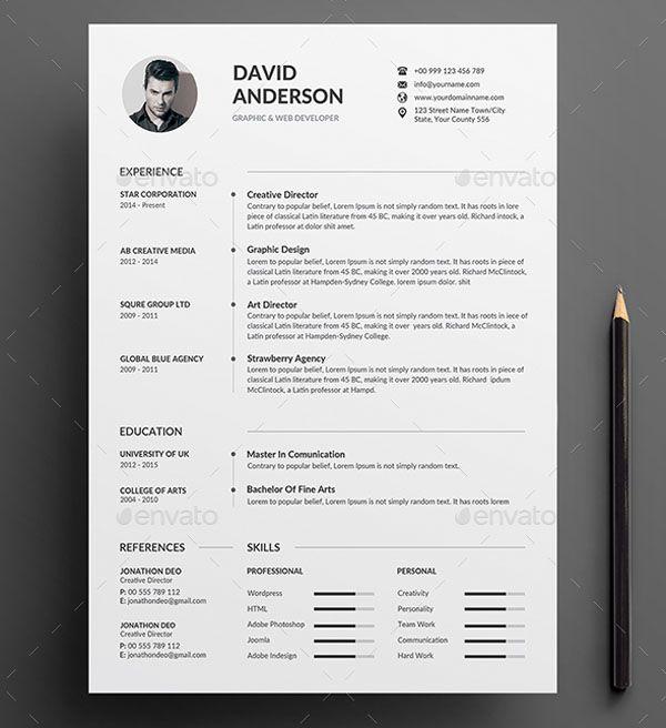 20+ Amazing Creative Resume Design Templates Cv template, Color - creative resume design templates