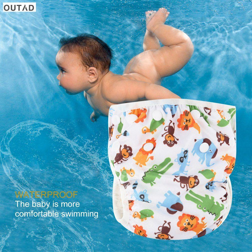 Adjustable Reusable Baby Product  Pants Swim Diaper Waterproof Nappy Washable~