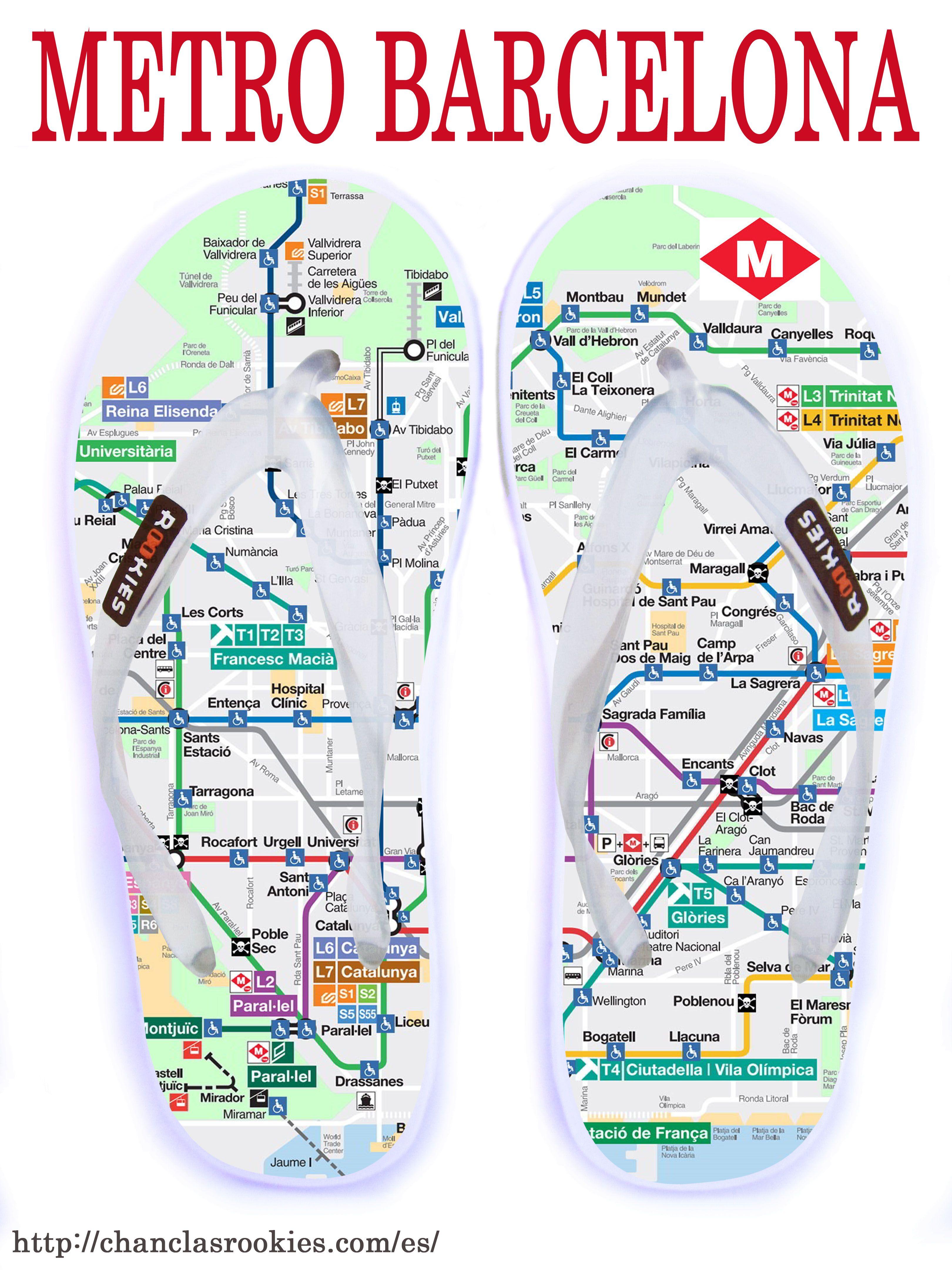 Chanclas Metro de Barcelona