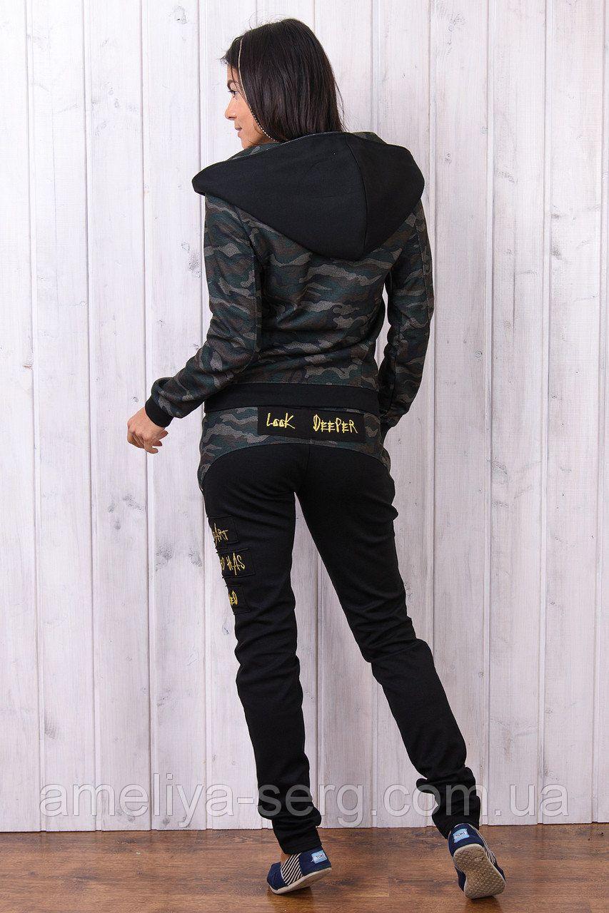 f204cd546c2c57 Модные женские Брендовый тёплый гламурный спортивный костюм женский Турция  камуфляж для повседневной носки