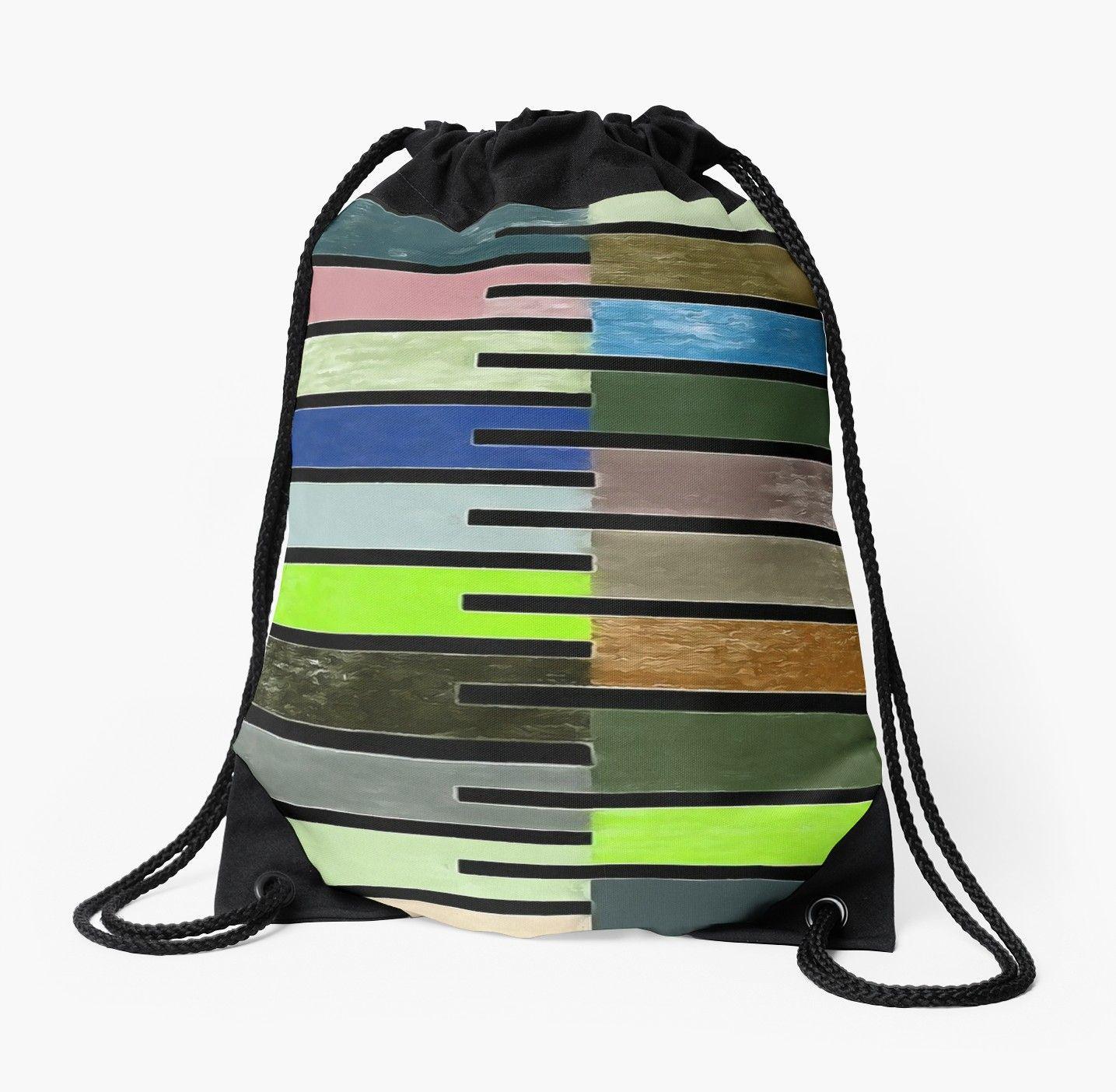 Back Pack Tote Bag Abstract Art Drawstring Bag Painting Drawstring Bag Painting Art Tote Bag Art Drawstring Bag Bag Backpack Coral