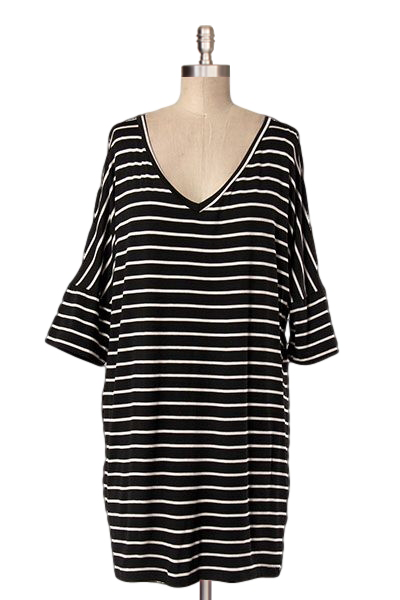 Bird's Eye View Striped Tunic