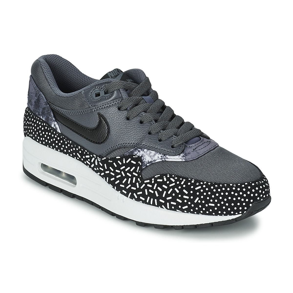 huge selection of 516ac ab52b Baskets basses Nike AIR MAX 1 PRINT Noir  Blanc prix promo Baskets Femme  Spartoo 139.00