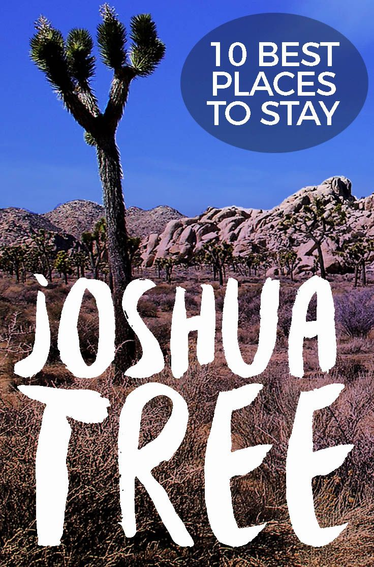 Places to Stay Near Joshua Tree National Park #joshuatree #california Camping, airbnb, cool and quirky lodgings in the desert