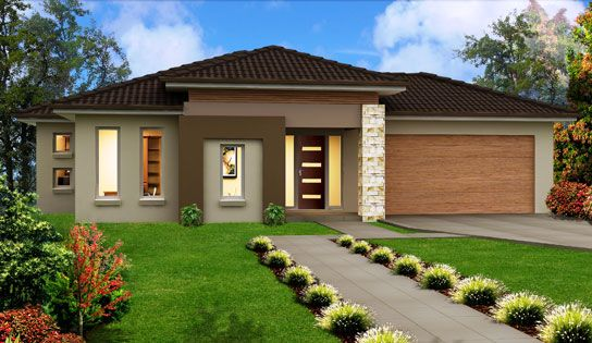 Single Story Home Designs Modern single storey house designs 2014