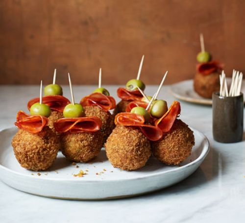 Paella arancini bites recipe paella tapas and rice grain forumfinder Choice Image