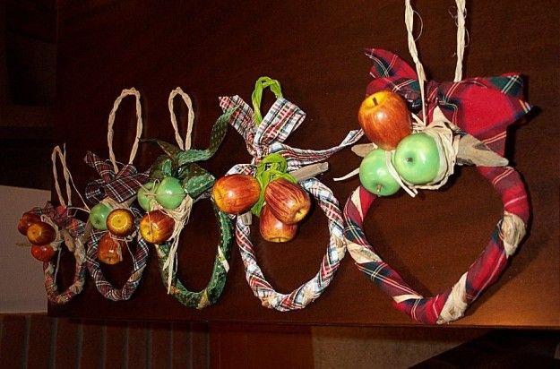 Ghirlande con legno e frutta #natale #xmas #christmas #decorations #handmade #crafts #DIY