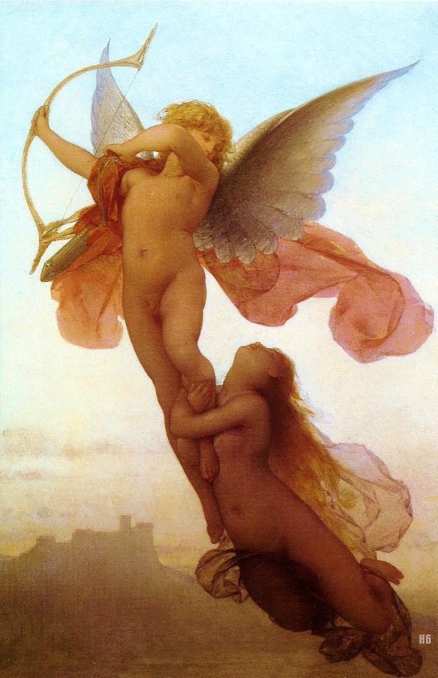 Hadrian6 Cupid And Psyche Eugene Medard French 1847 1887 Oil Canvas Http Hadrian6 Tumblr Com John William Waterhouse Angeli Immagini