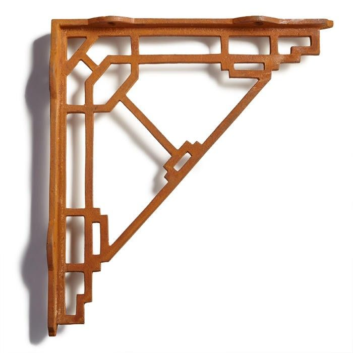 Mission Style Cast Iron Shelf Bracket