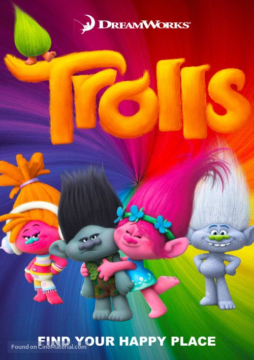 Trolls Movie Cover Trolls Movie Trolls Birthday Party Movies