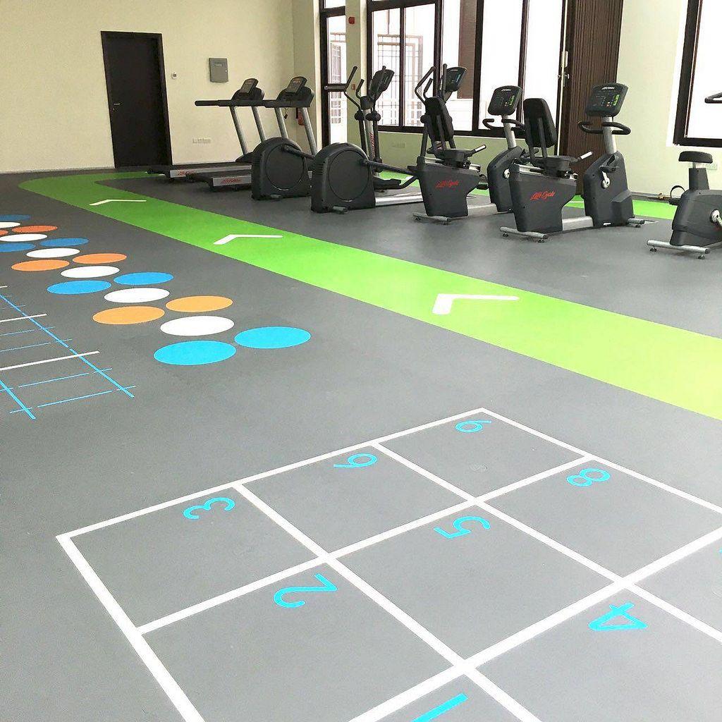 Pavigym Endurance Zoning Markings Clinic Design Gym Decor Home Gym Flooring