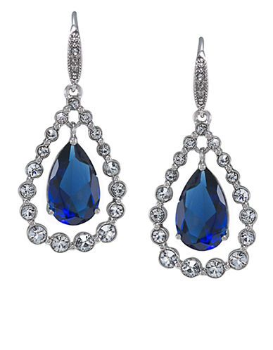 Lord and Taylor ~ CAROLEE Uptown Recolor Sapphire Drop Earrings
