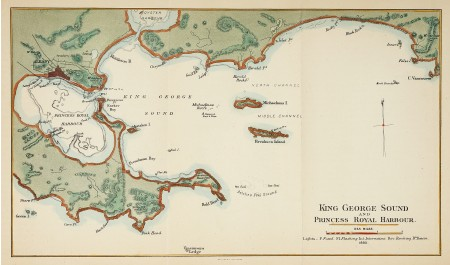 King George Sound And Prince Royal Harbour Albany Antique Print Map Room King George Western Australia Map Map